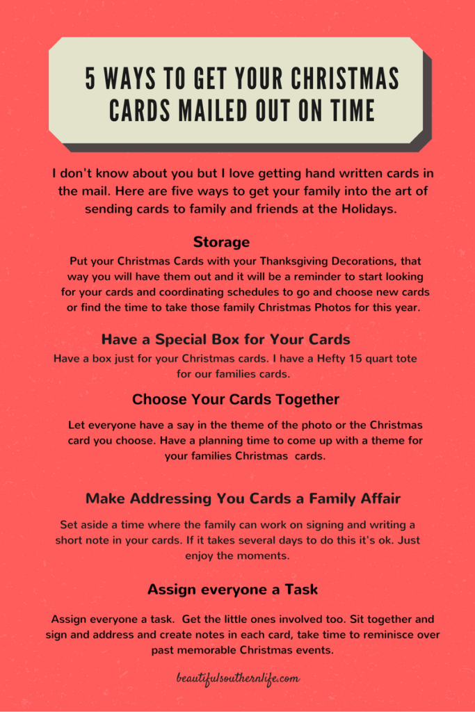 5 ways to get christmas cards out on time, christmas, cards, family