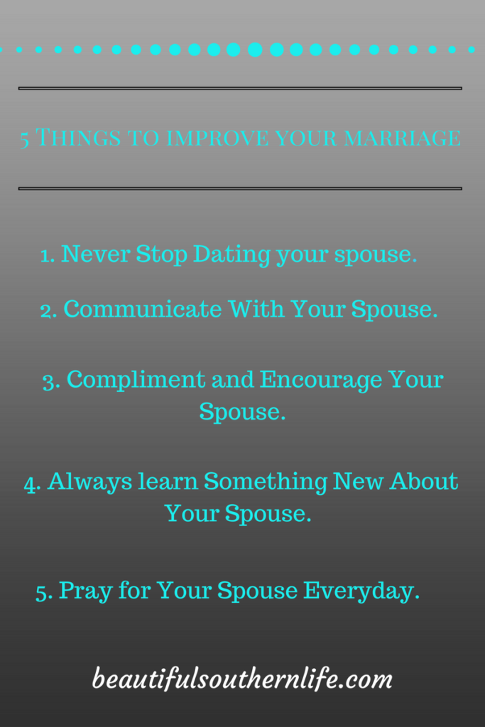 Five things to improve your marriage today.
