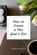 "How to Create a ""This Year's List"""
