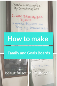 goals boards, vision boards, family message centers