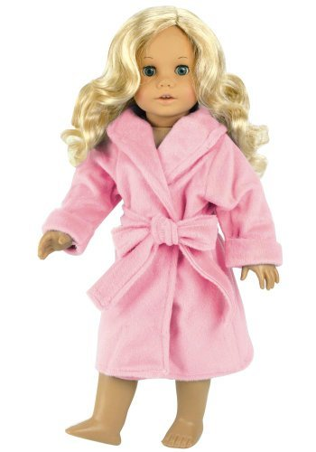 Pretty pink robe for American Girl doll