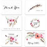 Boho Thank you cards