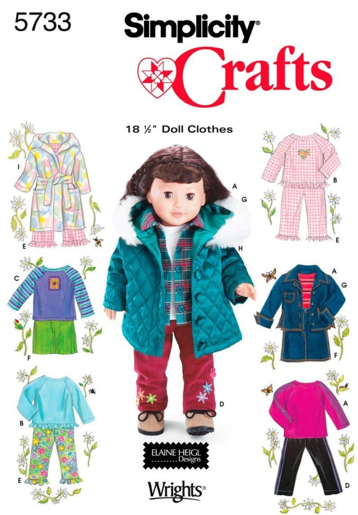 "Simplicity 18"" Doll Patterns"