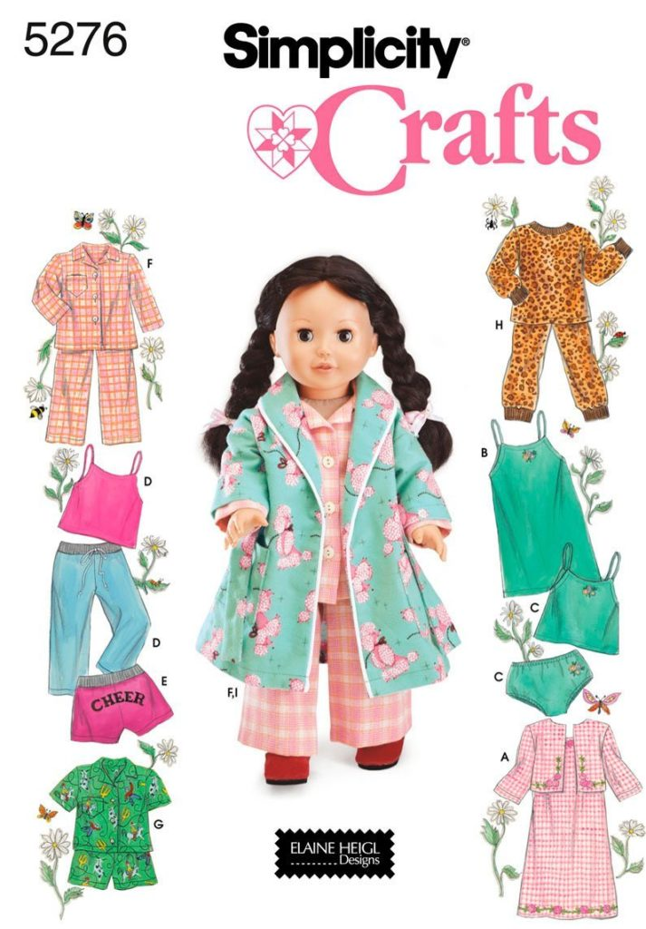 "Simplicity 18 "" doll patterns"