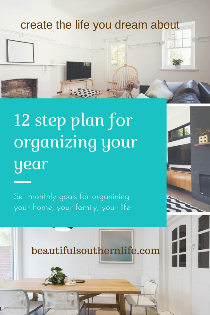 12 Step Plan for Organizing your year