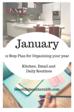 January: Kitchen, Email, Routines